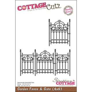 """CottageCutz Die 4""""X6""""-Garden Fence & Gate Made Easy"""