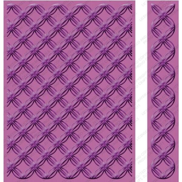 "Cricut Cuttlebug 5""X7"" Embossing Folder/Border Set-Geometric Rings"