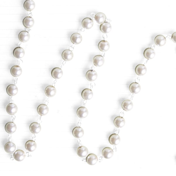 Pearl Bead Chain 8mm 10 Yard Roll-