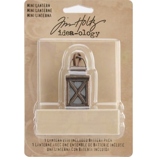 "Tim Holtz Idea-Ology Mini Lantern 1.375""-Uses 2 AA Batteries, Not Included"