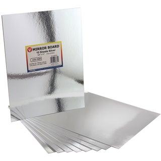 "Mirror Sheets 8-1/2""X11"" 10/Pkg-Silver"