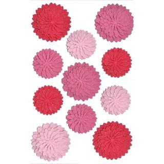 Martha Stewart Stickers-Red/Pink Dahlia