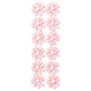 Martha Stewart 3D Stickers-Pink Cosmos