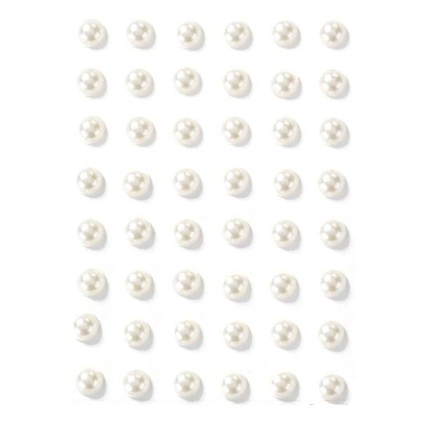 Martha Stewart 3D Stickers-White Pearls