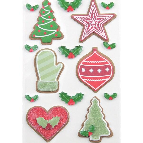 Martha Stewart Christmas Stickers-Cottage Christmas Cookie