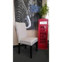 Elegant Creamy Beige Parson Dining Chairs (Set of 2)