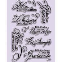 """Stampendous Perfectly Clear Stamps 4""""X6"""" Sheet-Spanish Greetings"""