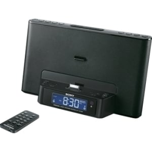 Sony ICF-CS15IPBLK Desktop Clock Radio - 3.5 W RMS - Stereo - Apple D