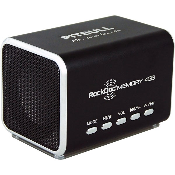 RockDoc 2.0 Speaker System - 6 W RMS - Battery Rechargeable - Black