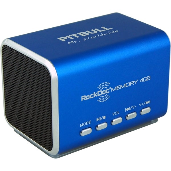 RockDoc 2.0 Speaker System - 6 W RMS - Battery Rechargeable - Blue