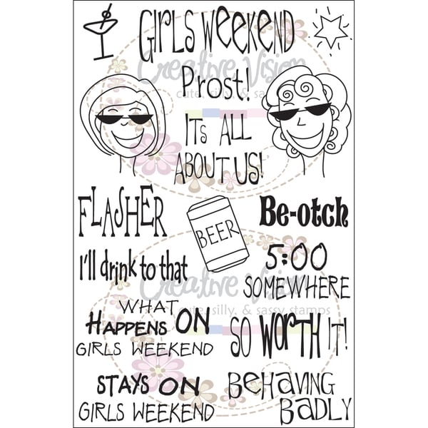 """Clear Stamps 4""""X6""""-Girl's Weekend"""