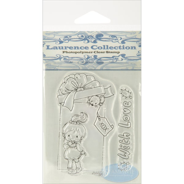 "Stampavie Laurence Design 3-1/2"" Clear Stamp-Tobi With Love"