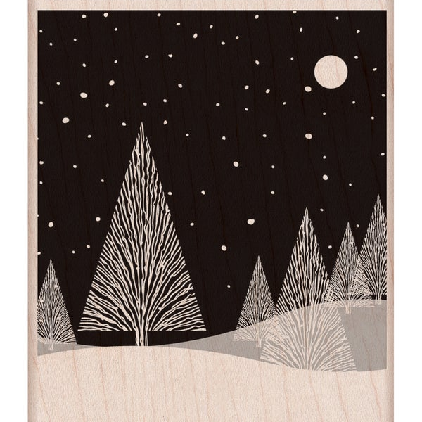 Hero arts mounted rubber stamps winter moon free for Rubber stamps arts and crafts