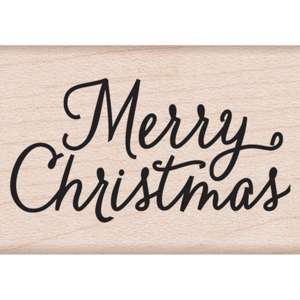 """Hero Arts Mounted Rubber Stamps 2""""X1.5""""-Merry Christmas"""