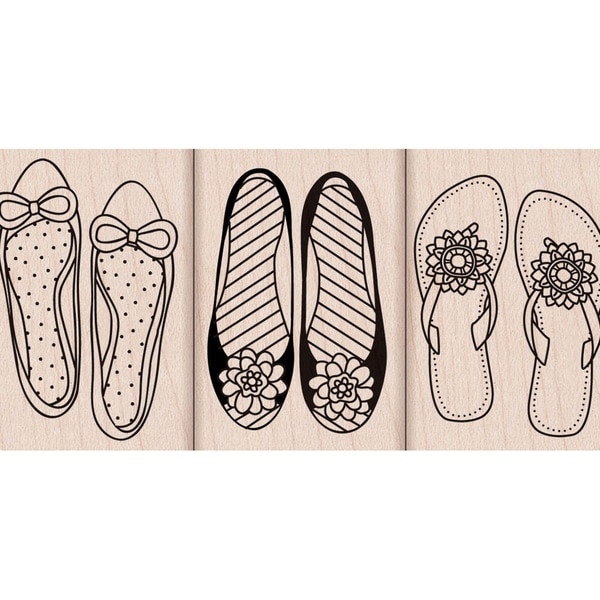Hero Arts Mounted Rubber Stamp Set-Shoes