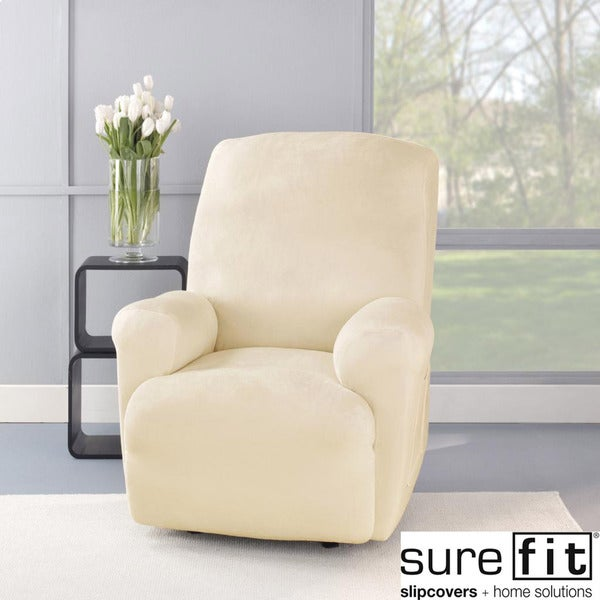 Sure Fit Stretch Plush Cream Recliner Slipcover Free
