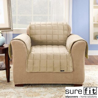 Sure Fit Deluxe Pet Ivory Chair Cover