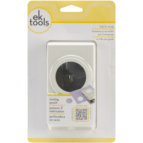 EK Tools Circle Punch New Package 1.50-Inch Scalloped Edge