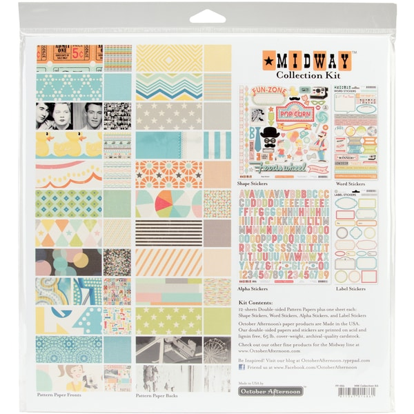 "Midway Collection Kit 12""X12""-"