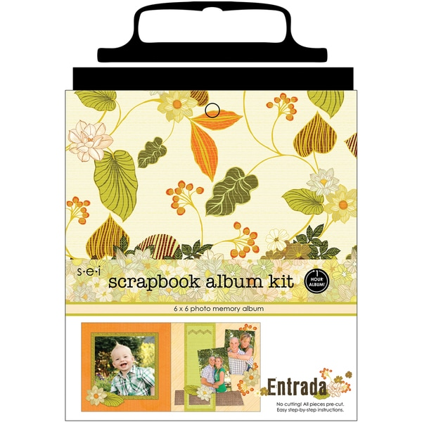 "1 Hour Album Scrapbook Kit 6""X6""-Entrada"