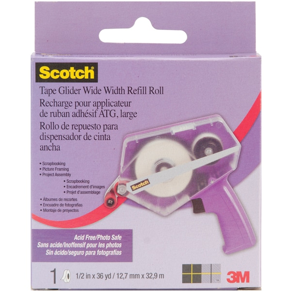 "Scotch 3M Advanced Tape Glider Refill-.5""X36yds (1/Pkg)"