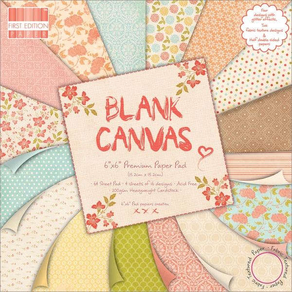 "Premium Paper Pad 6""X6"" 64/Sheets-Blank Canvas"