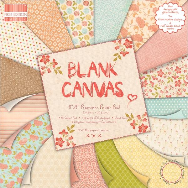 "Premium Paper Pad 8""X8"" 48/Sheets-Blank Canvas"