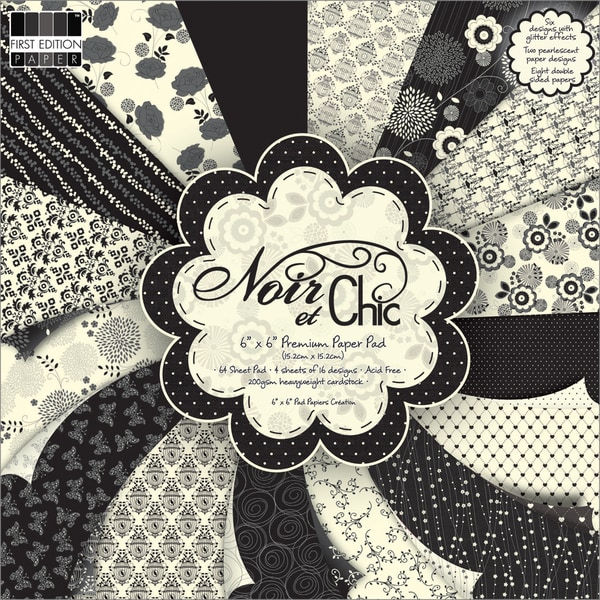 """Premium Paper Pad 6""""X6"""" 64/Sheets-Noir & Chic"""