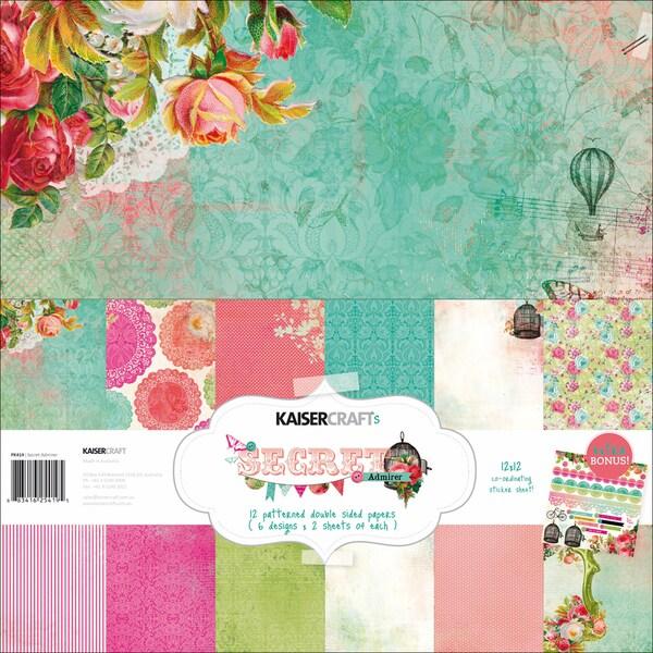 "Secret Admirer Paper Pack 12""X12""-"