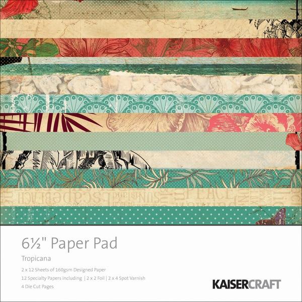 """Tropicana Paper Pad 6.5""""X6.5""""-"""