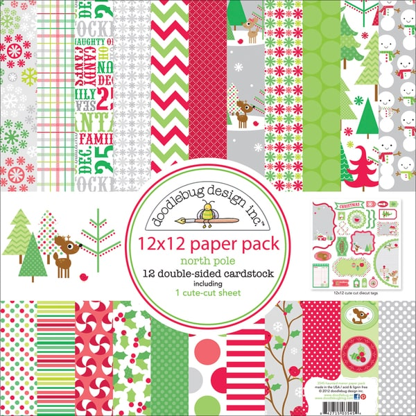 """Christmas Paper Pack 12""""X12""""-"""