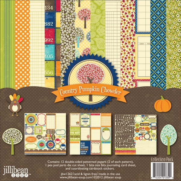 """Country Pumpkin Chowder Collection Pack 12""""X12""""-"""