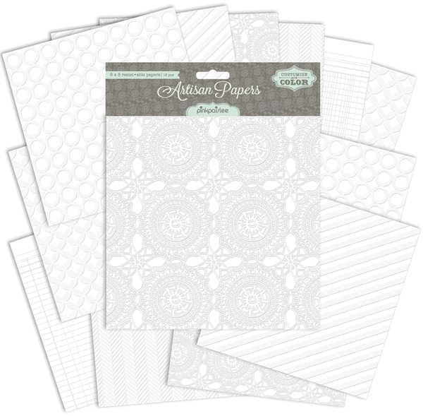 "Resist-Able Paper Pack 8""X8"" 12/Sheets-"