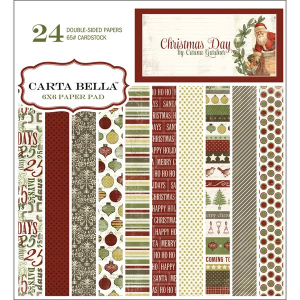 """Christmas Day Double-Sided Cardstock Pad 6""""X6"""" 24 Sheets-"""