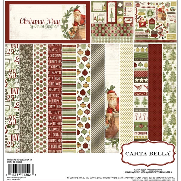 "Christmas Day Collection Kit 12""X12""-"