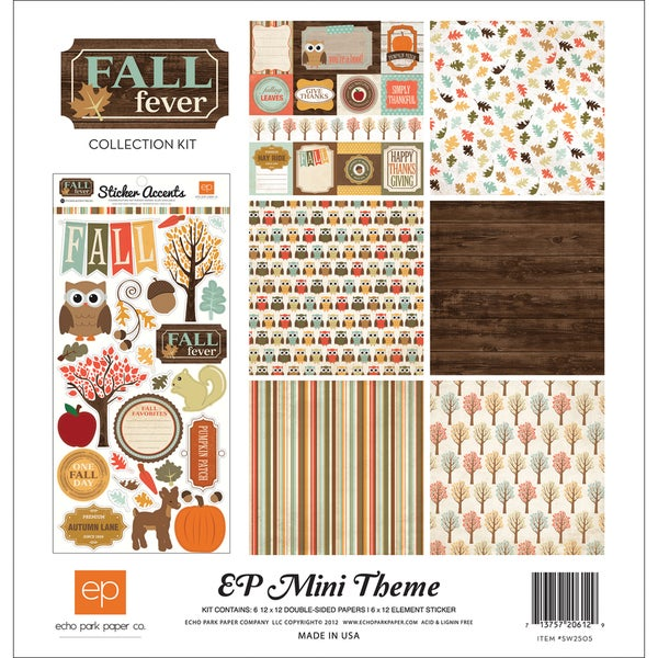 "Fall Fever Collection Kit 12""X12"""
