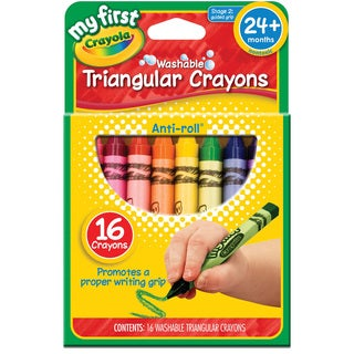 My First Crayola Washable Triangular Crayons 16/Pkg-