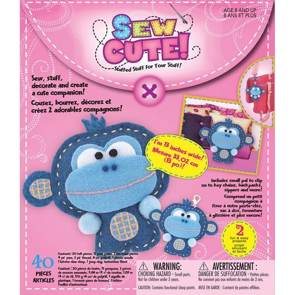 Sew Cute Craft Box Kit - Makes 2-Monkey