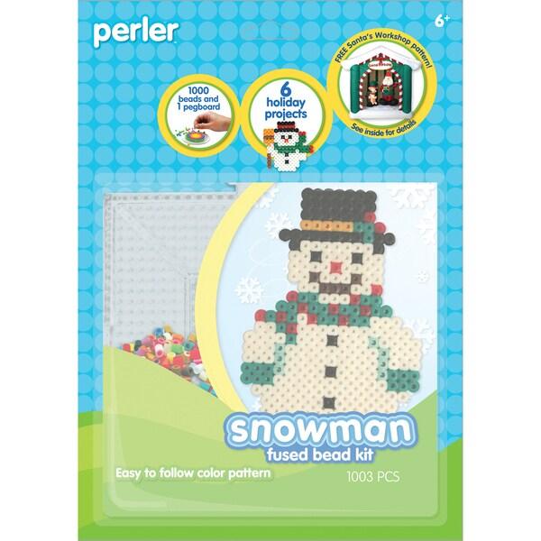 Perler Fun Fusion Fuse Bead Activity Kit-Snowman