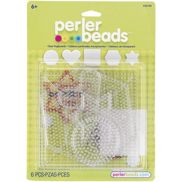 Perler Clear Pegboard Set 5/Pkg-Small/Large Basic Shapes