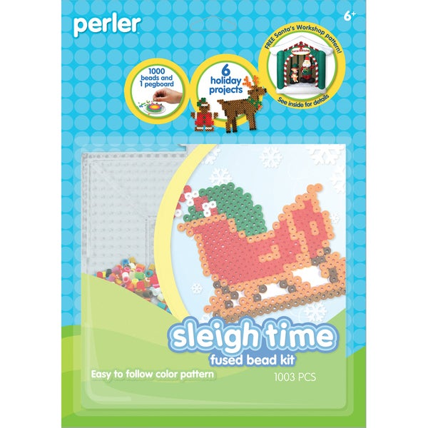 Perler Fun Fusion Fuse Bead Activity Kit-Sleigh Time