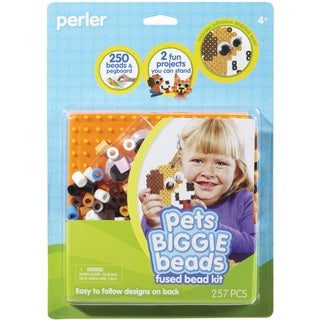 Perler Fun Fusion Biggie Fuse Bead Activity Kit-Pets