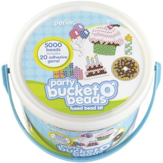 Perler Fun Fusion Fuse Bead Activity Bucket-Party