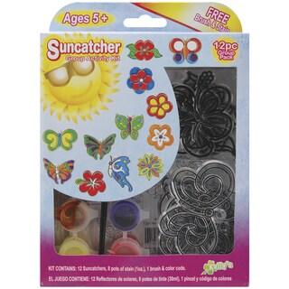 Suncatcher Group Activity Kit-Butterfly & Flowers 12/Pkg