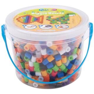 Perler Fun Fusion Biggie Bead Bucket 1200/Pkg-Assorted Colors
