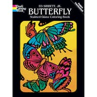 Dover Publications-Butterfly Stained Glass Coloring Bk