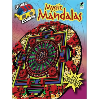 Dover Publications-Mystic Mandalas Coloring Book 3D