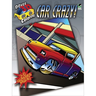 Dover Publications-Car Crazy Coloring Book 3D
