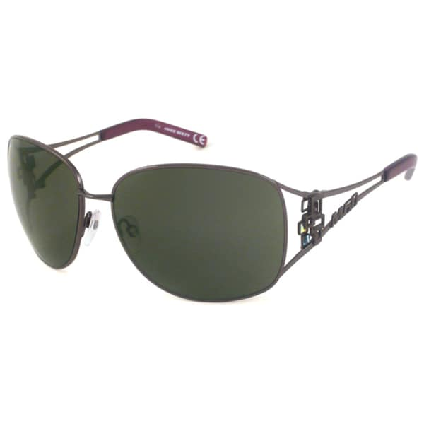 Miss Sixty MX367S Women's Gunmetal-Gray Rectangular Sunglasses
