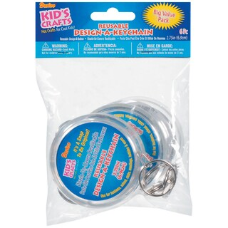 "Design-A-Keychain 2-3/4"" 6/Pkg-Clear"